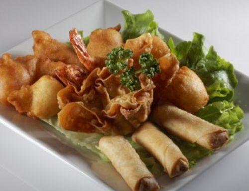 17 • Assiette assortie (petits nems, samoussas, beignets de crevettes et calamars)  • 12.00€