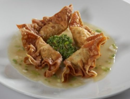 16 • Raviolis frits à la sauce ciboulette  • 9.80€